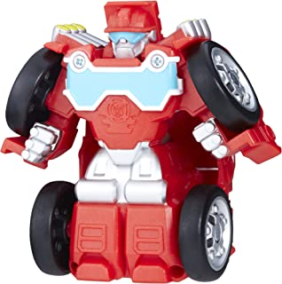 Playskool 英雄变形金刚救援机器人翻转 RACERS 热浪 fire-bot