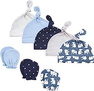 Hudson Baby 女婴棉质帽子和刮痕手套套装