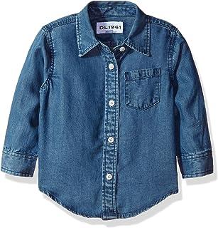DL 1961 女婴 Olivia-Shirts 深色水洗衬衫