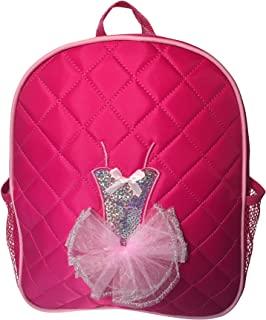 舞蹈背包 紫红色绗缝亮片芭蕾舞短裙背包 M 码 女孩 4-9
