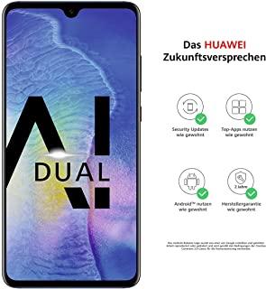 Huawei 華為 Mate20 雙SIM卡智能手機套裝(6.53英寸屏幕,128GB內部存儲空間,4GB RAM,Android 9.0,EMUI 9.0) USB Type-C適配器[亞馬遜專有],午夜藍(德國版)