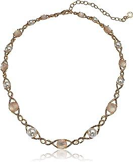 Anne Klein 安妮克莱因 NK 16英寸珍珠/MOP 项圈 - GLD/Blanc/WHT,可调节(60538472-D60)