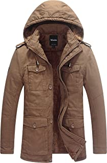 Wantdo 男士冬季加厚羽绒服,可拆卸连帽夹克