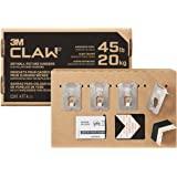 3M CLAW 4 干墙图片挂钩,带斑点标记,44 磅(约 20.4 千克),可悬挂框架,无需工具,可承重 45 磅(约…