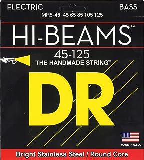 DR Strings Hi-Beam - 不锈钢圆芯中号 5 弦 45-125