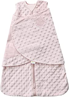HALO SleepSack 长绒毛圆点睡袋,粉色(新生儿用)