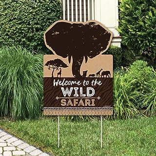 Big Dot of Happiness Wild Safari - 派对装饰 - 非洲丛林冒险生日派对或婴儿派对欢迎院标牌