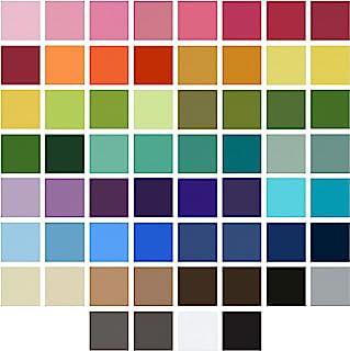 My Colors Cardstock - 帆布卡片纸完整收藏家 12x12 包 - 包含 60 张彩色纸