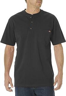 Dickies Men's Big & Tall Heavyweight Henley Shirt 黑色 2X Tall