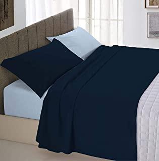 """意大利床上用品 """"自然色"""" 床上用品套装,深蓝色/浅蓝色,小号双人"""