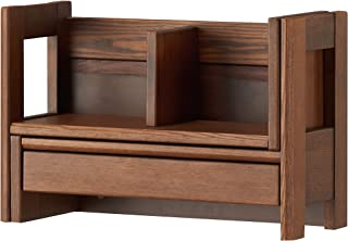 KOIZUMI 学习桌 自然色 宽46.9~86.4×深21×高32 扩展书架 WT色 BDA-182WT 深棕色