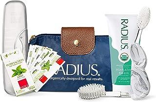 RADIUS Big Clean 豪华口腔护理礼品套装(大号刷带可更换右耳,薄荷芦荟印度楝*牙膏,纯木糖醇薄荷牙线,旅行盒),1 件装