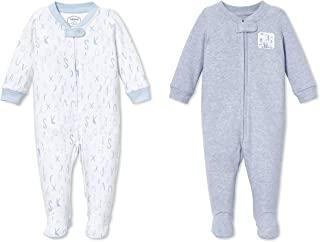 Lamaze Organic 婴儿女童*玩耍连脚睡衣 2 件装 robin 蓝 9 Months