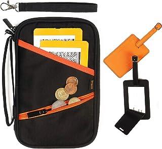 家庭护照夹和旅行钱包 – RFID 屏蔽文件收纳包