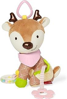 SKIP HOP 婴儿玩耍和磨牙玩具 大手帕伙伴 带有多感官摇铃和纹理,小鹿