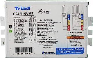 Universal C242UNVM-E001C 2灯 26-42 瓦电子紧凑型荧光镇流器