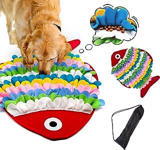 HUYICHEN 狗狗狗垫宠物喂食垫觅食技能训练垫防滑颗粒便携式宠物互动狗狗拼图玩具,用于训练和*