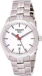 Tissot 男式石英不锈钢休闲手表,颜色:银色调(型号:T1014101103101)