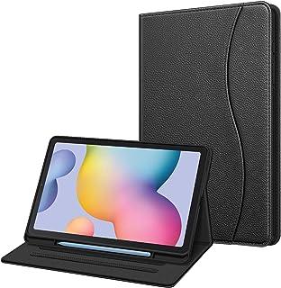 Fintie 保护套适用于三星 Galaxy Tab S6 Lite 10.4'' 2020 型号 SM-P610 (Wi-Fi) SM-P615 (LTE) 带 S 笔筒,多角度观看软 TPU 后盖带口袋自动唤醒/*ESAX013