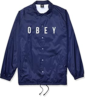 Obey 男式 Anyway Coaches 夹克 深蓝色 S