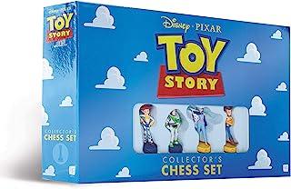 USAOPOLY 迪士尼皮克斯玩具总动员国际象棋套装   包含玩具总动员里的4个角色-杰西,巴斯光年,波普·皮普,伍迪   32种定制雕刻的国际象棋棋子