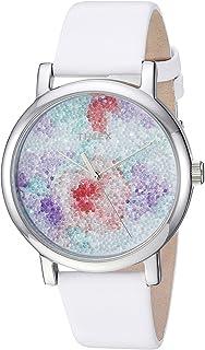 Timex 天美时 女式 TW2R66500 水晶鲜花绽放皮质腕表