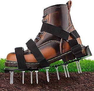 NEUFLY 草坪曝气器鞋子,*新可折叠人体工程学草坪曝气器垫片均码草坪曝气器尖头鞋,适用于草坪或庭院 - 黑色