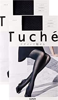 GUNZE 郡是 丝袜 Tuche 迷你菱形图案 不易脱丝 同色2双装 女士