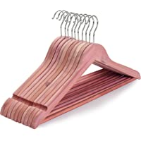 TOPIA HANGER 美国红雪松木衣架,木质西装衣架,平滑切割凹槽 - 360° 柔性挂钩 - 实心防滑杆(10 件…