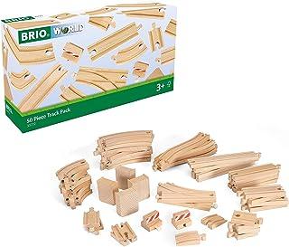 BRIO World -50件套木制火车轨道,与所有BRIO火车套装兼容,3岁及以上儿童
