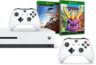 Xbox One S 1TB双控制手柄+ Forza Horizon 4 -标准版+ Spyro Trilogy Reignited(Xbox One)