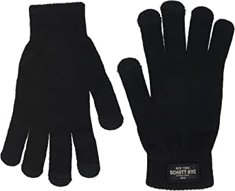 Schott NYC 男士 GL408 手套,黑色(黑蓝色),均码