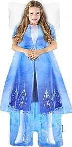 Blankie Tails Disney《冰雪奇缘》2《探险艾莎》儿童可穿毯超柔软双面貂皮绒 - 可机洗,内部悬挂,成为《冰雪奇缘》中*爱的 Disney Princess