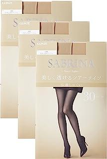 GUNZE 郡是 女士 连裤袜 Sabrina Sheer 30旦尼尔同色3双装 SB460