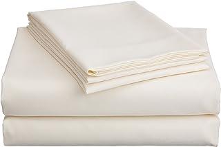 Divatex Home Fashions 超细纤维加州大号双人床床单套装 蓝色 象牙色 Queen 109851-QIV