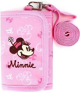 WINGHOUSE X 米妮三折钱包,带零钱包和挂绳,适合儿童女孩粉色