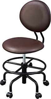 小泉成器 KOIZUMI(小泉学习桌) 学习椅 中棕色 W49.5×D47~54×H82~93㎝ SH42.5~53.5cm(外部尺寸) 鼓凳 中棕色 CDY-610MB