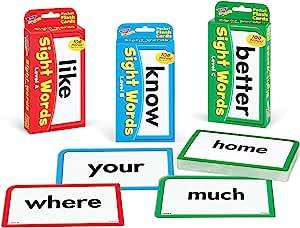 TREND Enterprises, Inc. Sight Words Bundle 覆盖 多种颜色