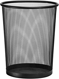 D.RECT 金属丝网废纸篓   办公室垃圾桶   垃圾桶   纸桶 19升 黑色
