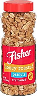 Fisher Snack 蜂蜜烤花生, 黄金烘焙, 14盎司(396克)
