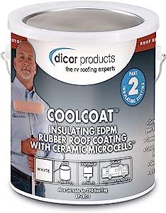 Dicor Coolcoat 橡胶陶瓷涂层 1 加仑 白色 RP-IRC-1