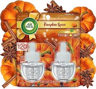 Air Wick 芳香油 2 替换装,南瓜香料,空气清新剂 Pumpkin Spice 2 Refills