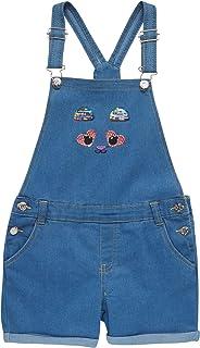 dELiAs 女童牛仔短裤,肩带可调,装饰细节