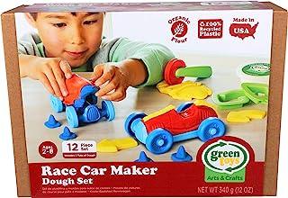 Green Toys 12 件赛车制作器面团套装 - Doh Moulding 模型玩具套装