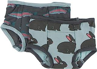 KicKee Pants 幼儿训练裤套装内衣,适合男孩和女孩。