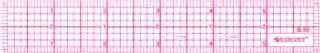 Westcott 8th 15.24cm 斜面透明尺子 (B-50),透明,15.24cm x 17.13cm x 0.23cm