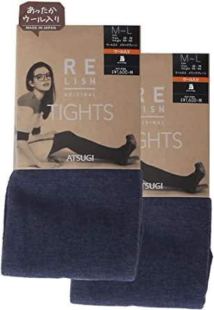 ATSUGI 厚木 女士 连裤袜 RELISH ORIGINAL 含羊毛 混杂素色连裤袜 450D 2双装 BL1651