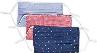 Perry Ellis 可重复使用百褶编织面料面膜(3 件装,多种颜色),夏季印花,均码