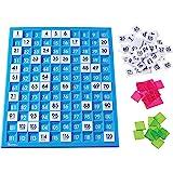 Learning Resources 120数字板 百数板 计数板 学习早教教具 托盘和编号瓷砖 通用核心数学 181块…