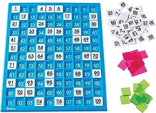 Learning Resources 120数字板 百数板 计数板 学习早教教具 托盘和编号瓷砖 通用核心数学 181块 年龄6岁以上
